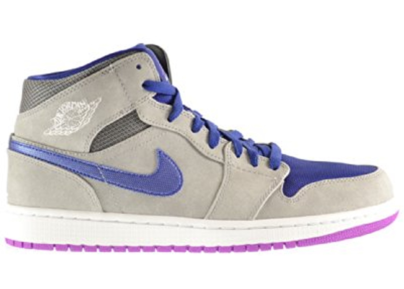Sell. or Ask. Size  9.5. View All Bids. Jordan 1 Mid Matte Silver Laser  Purple ed2104894