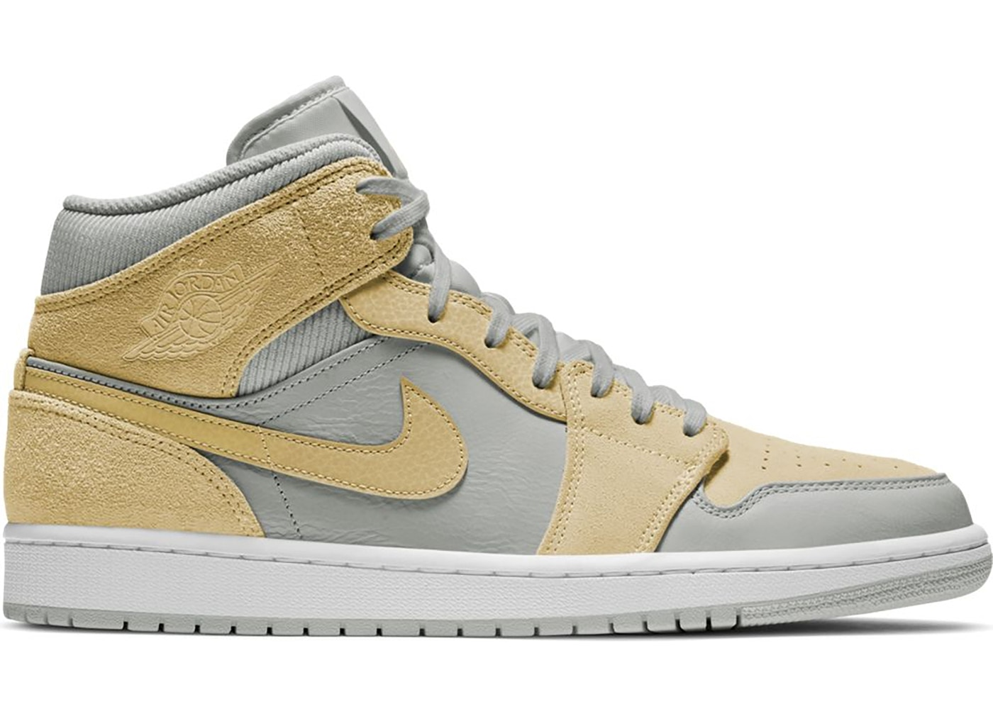 Jordan 1 Mid Mixed Textures Yellow Da4666 001
