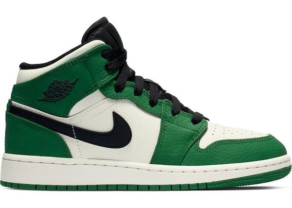 online retailer b8cf5 28250 Jordan 1 Mid Pine Green (GS)