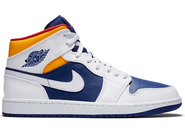 Jordan 1 Mid Royal Blue Laser Orange - 554724-131
