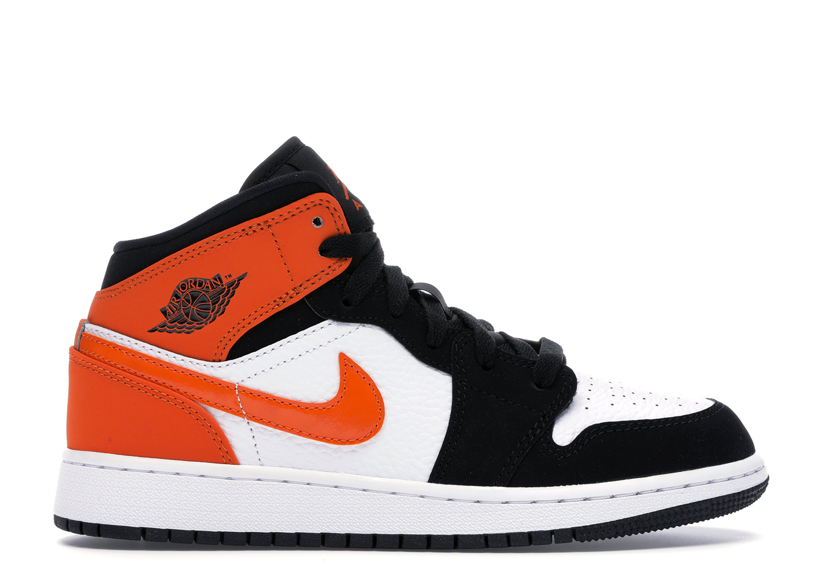 air jordan 1 mid noir orange