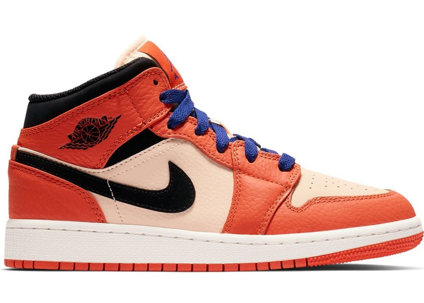 269fa2912026 Jordan 1 Mid Team Orange Black (GS) - BQ6931-800
