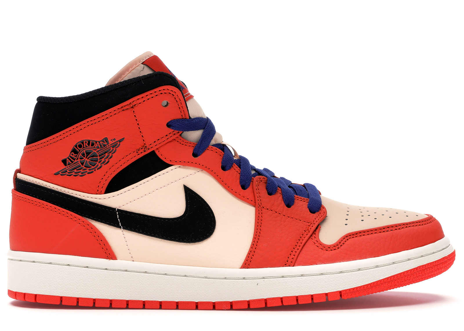 air jordan 1 mid femme orange