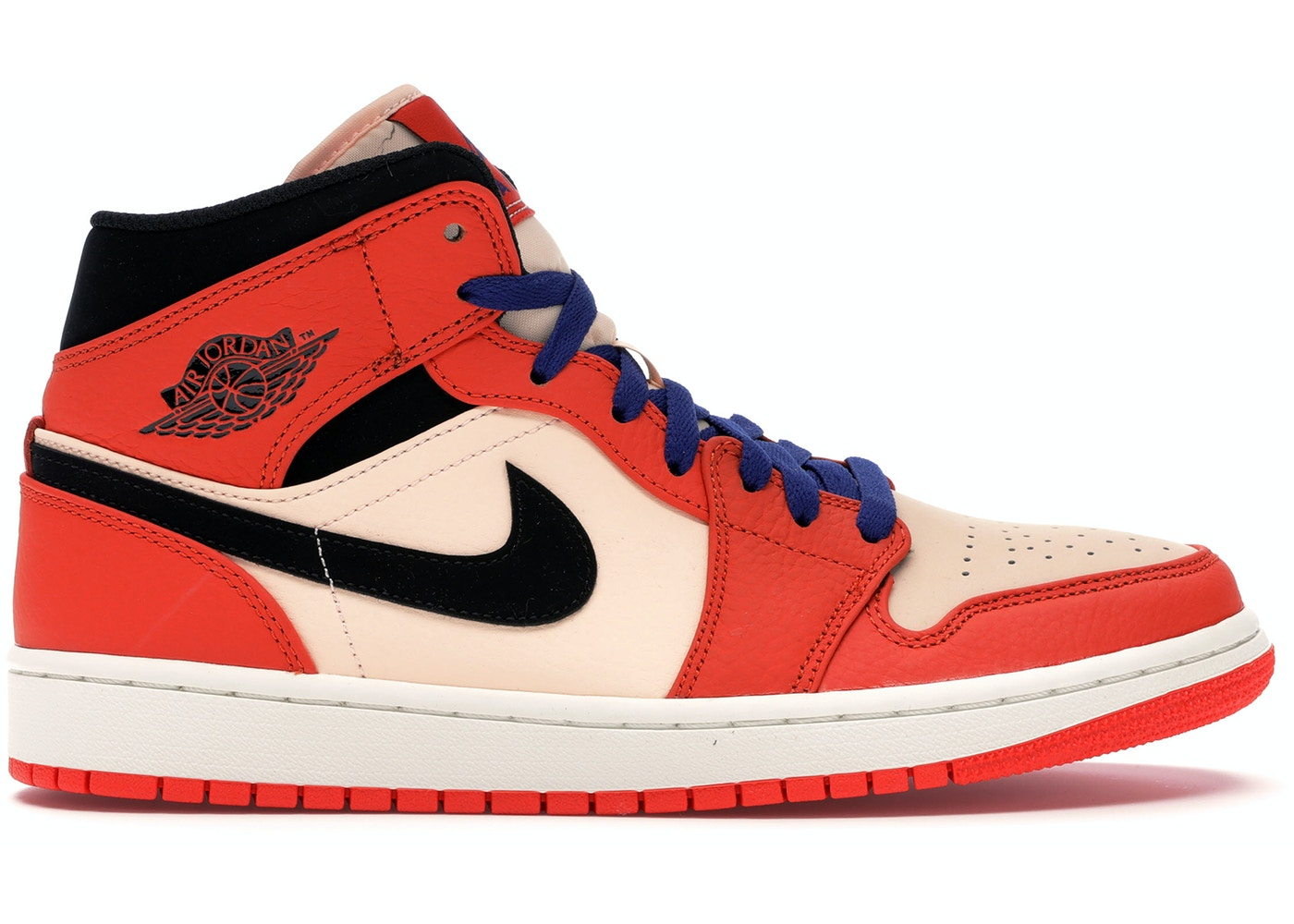 acfe87e3e984 Jordan 1 Mid Team Orange Black - 852542-800