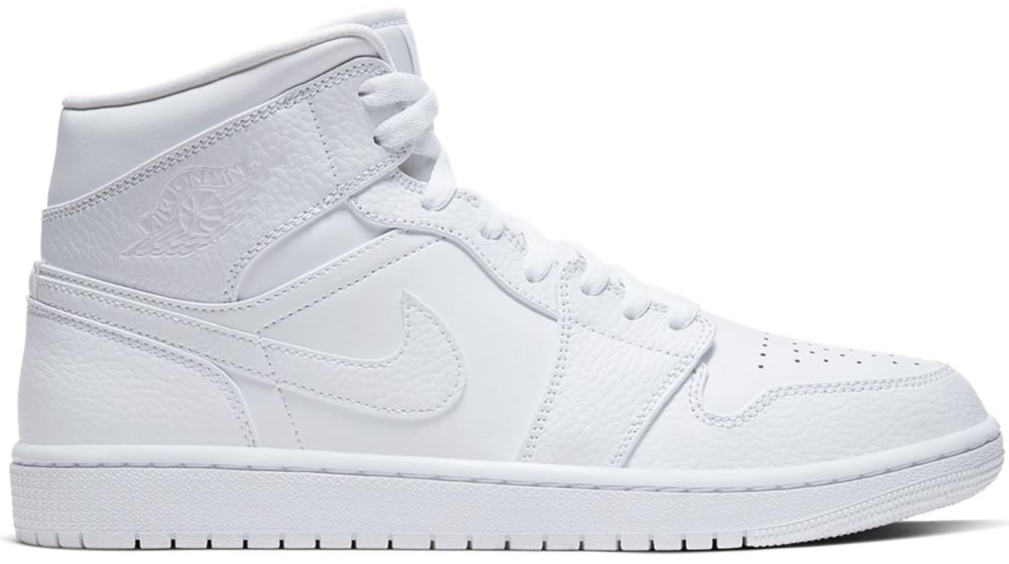 Jordan 1 Mid Triple White 2.0 (2020