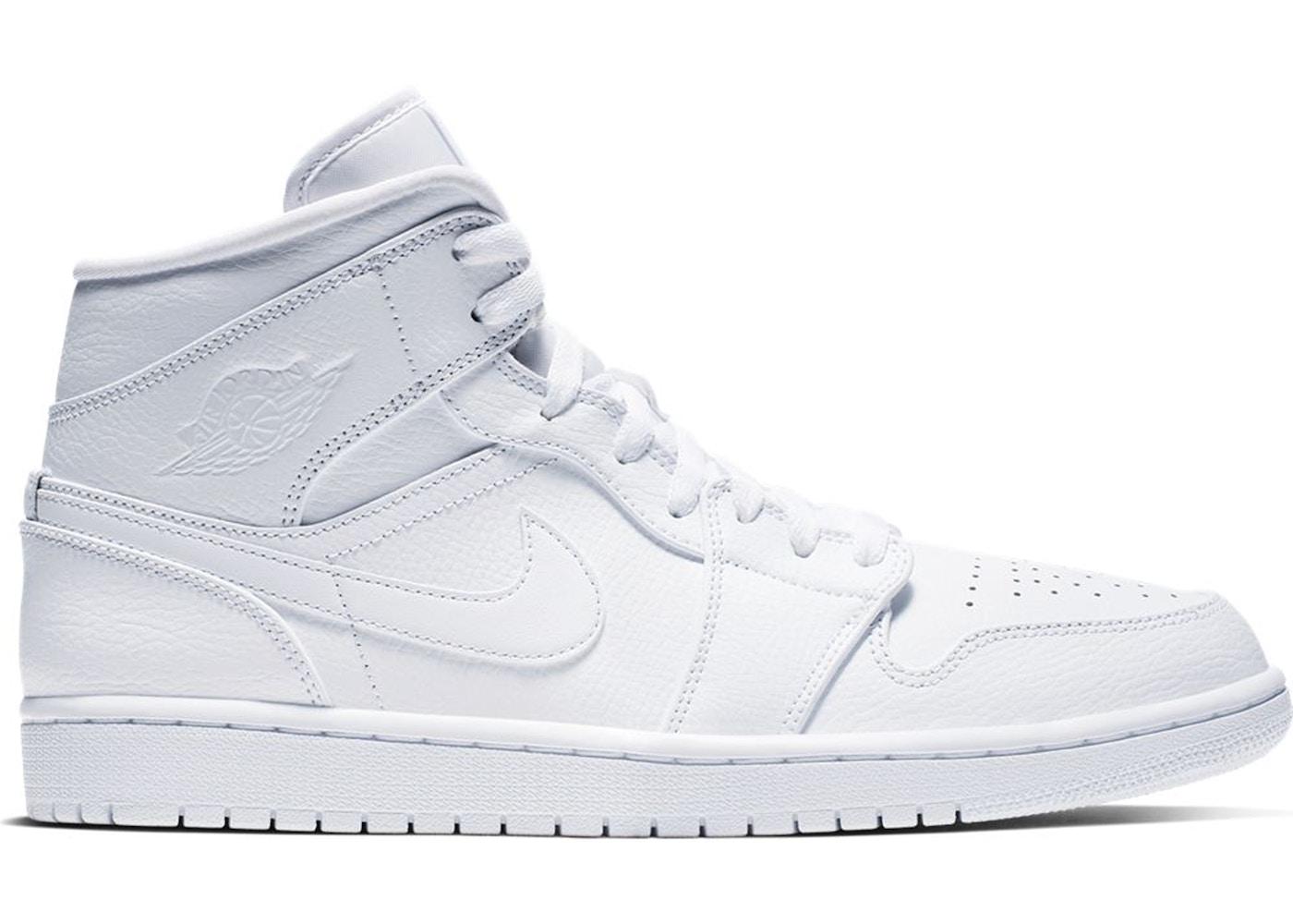 Jordan 1 Mid Triple White 2019 554724 129