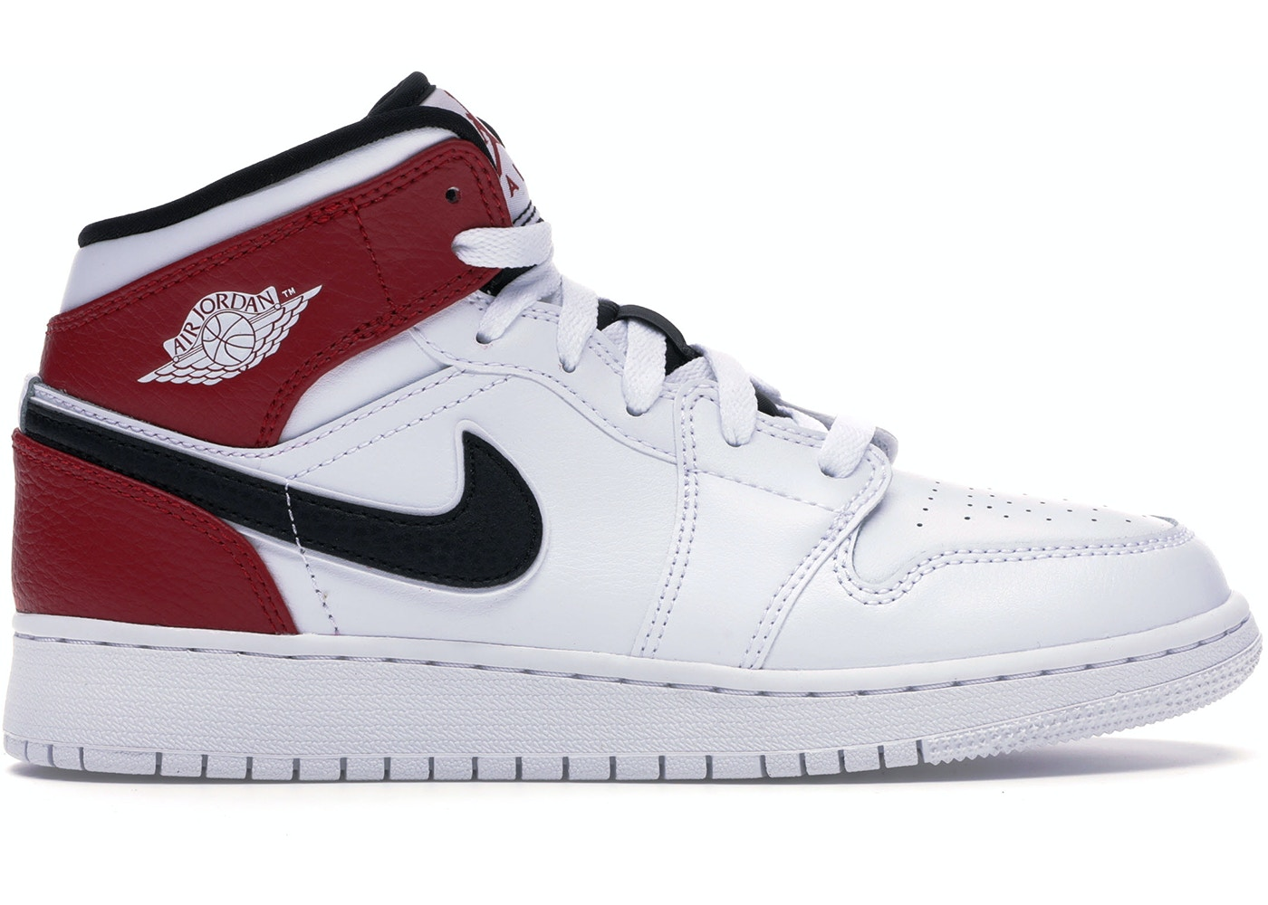 newest collection f2a6d f1639 Jordan 1 Mid White Black Gym Red (GS) - 554725-116