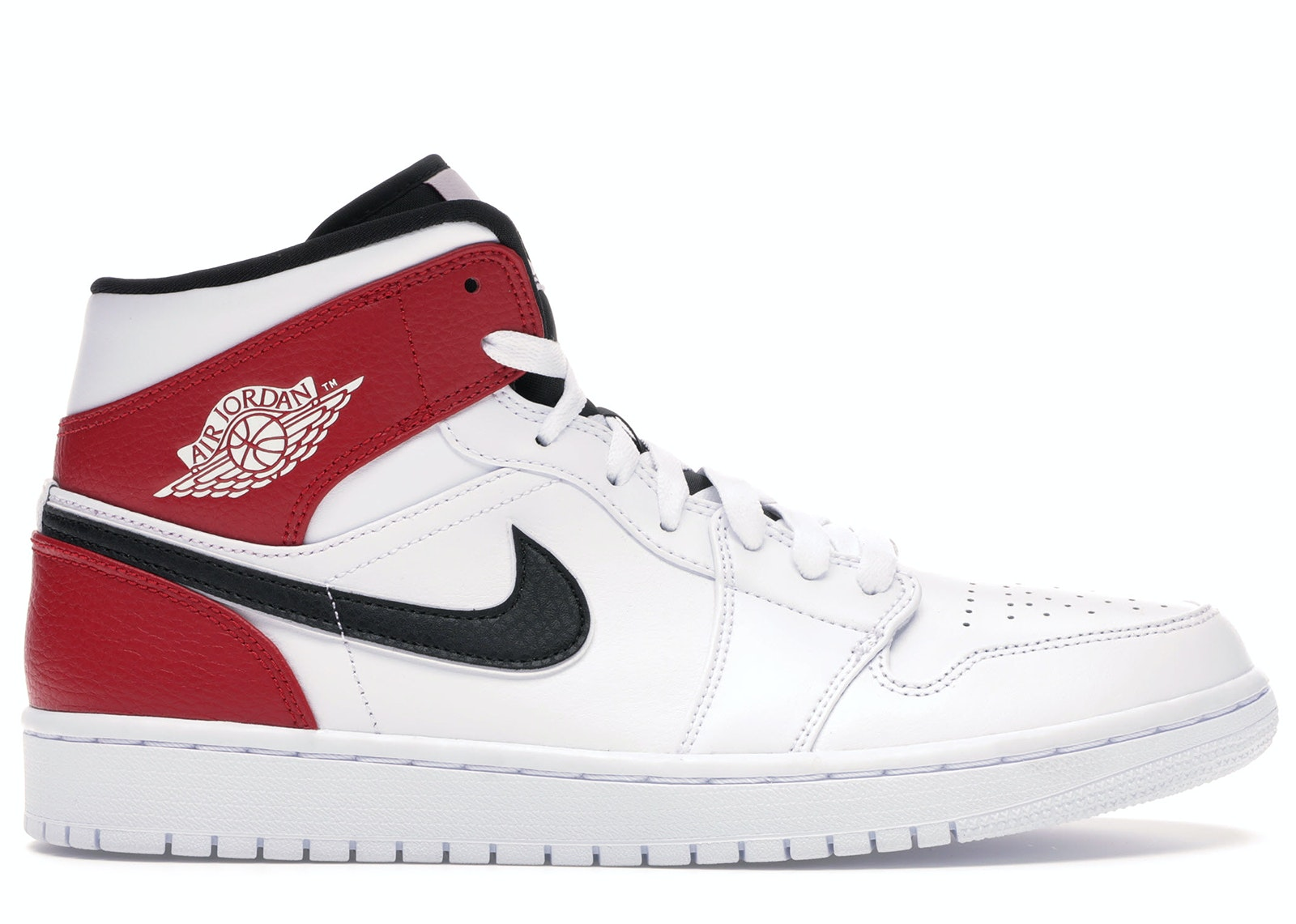 jordan 1 black white red