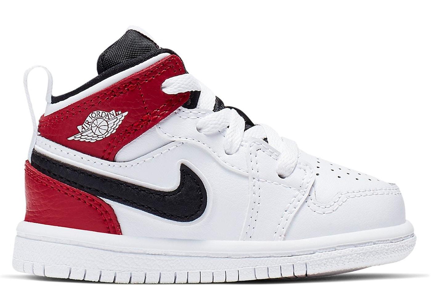 Jordan 1 Mid White Black Gym Red Td 640735 116