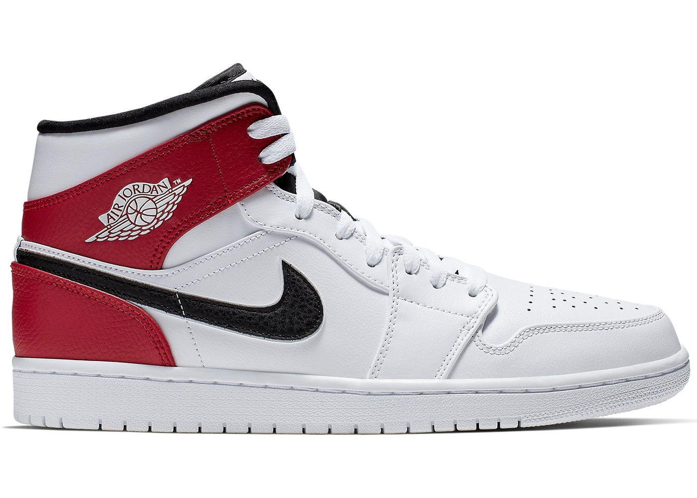 new concept a224e 46108 Jordan 1 Mid White Black Gym Red