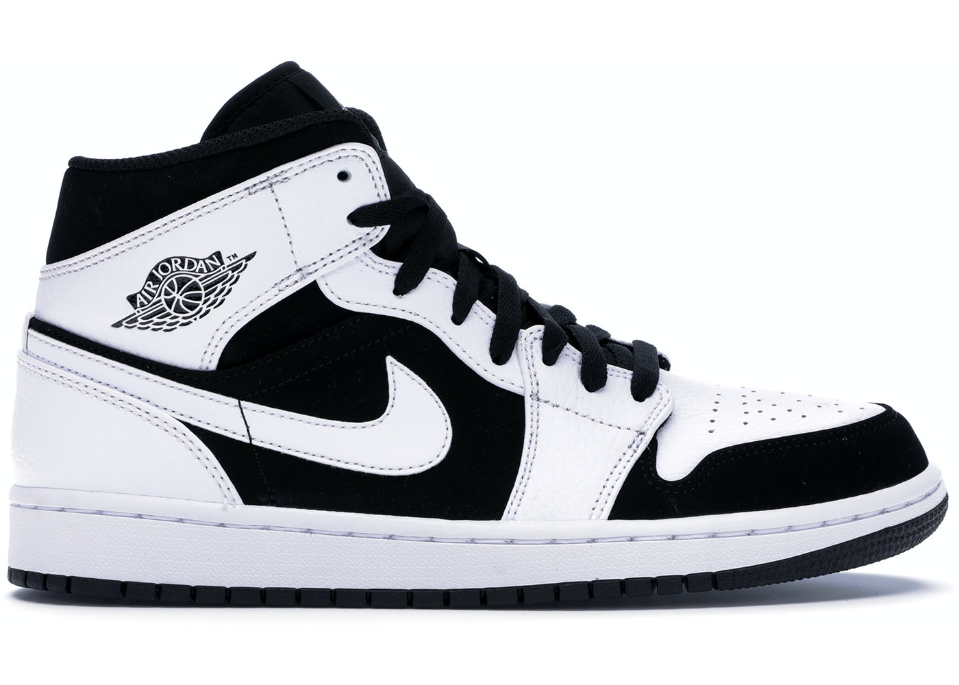 innovative design db09a 6b971 Jordan 1 Mid White Black - 554724-113