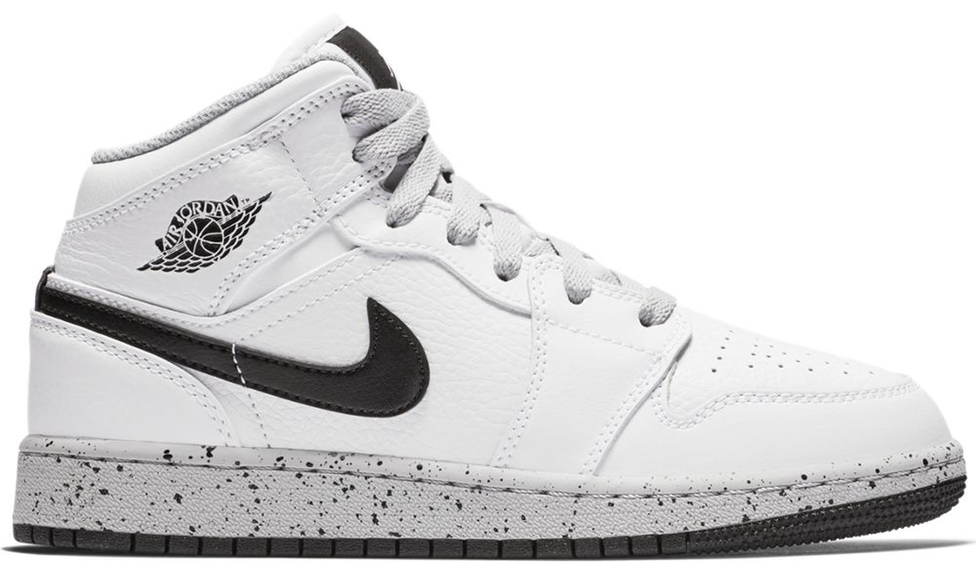 Jordan 1 Mid White Cement (GS) - 554725-115