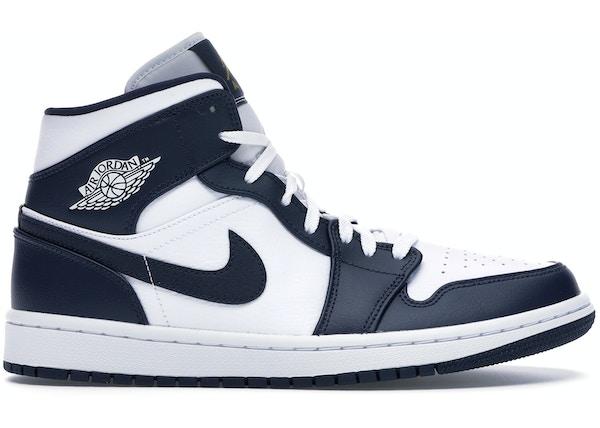 sports shoes d413d 19c94 Jordan 1 Mid White Metallic Gold Obsidian