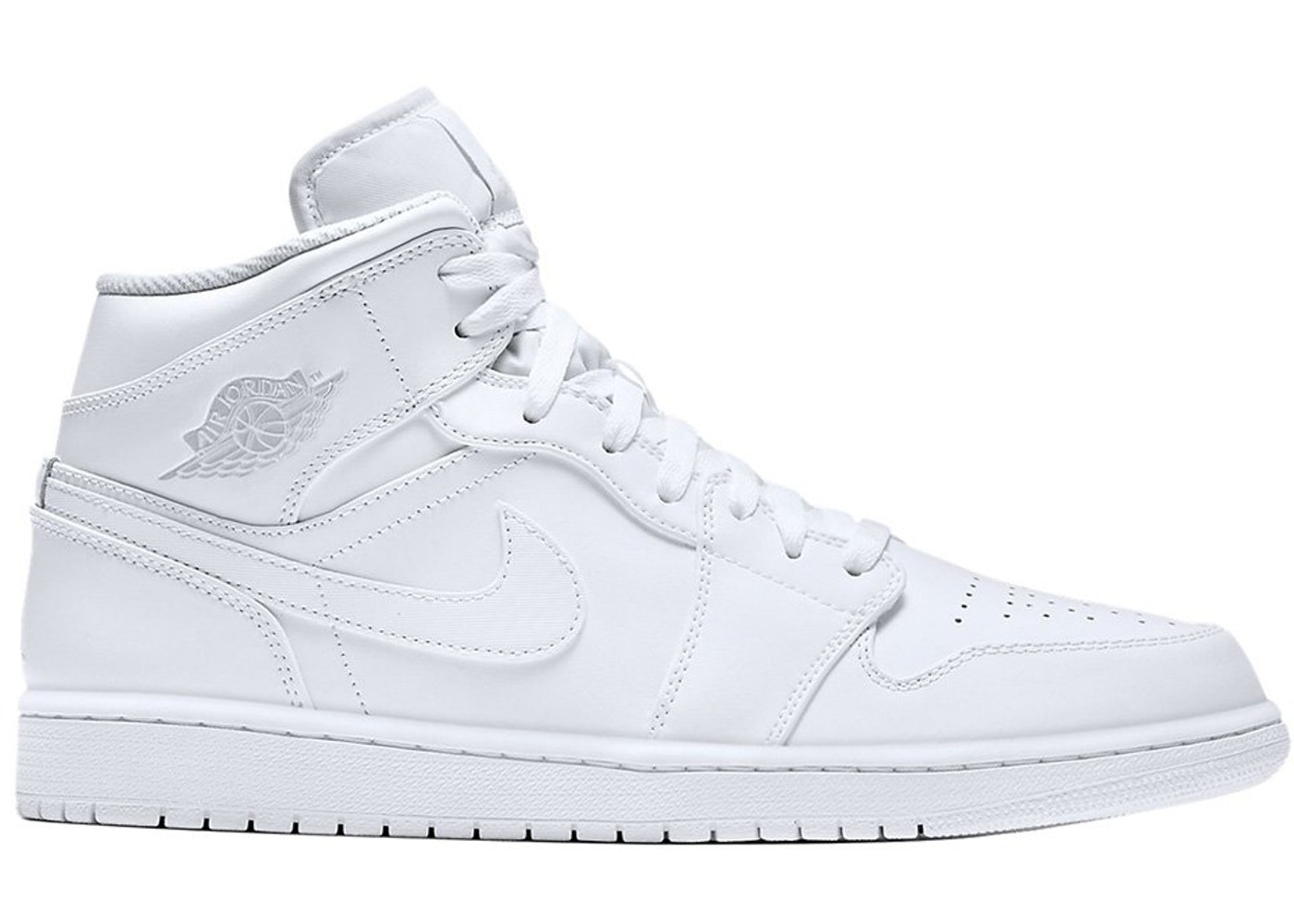 the latest 81098 db38b Jordan 1 Mid White/Pure Platinum