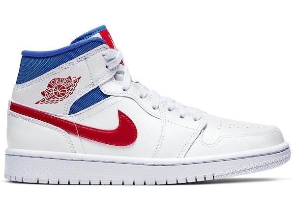 Jordan 1 Mid White Red Royal W Bq6472 164