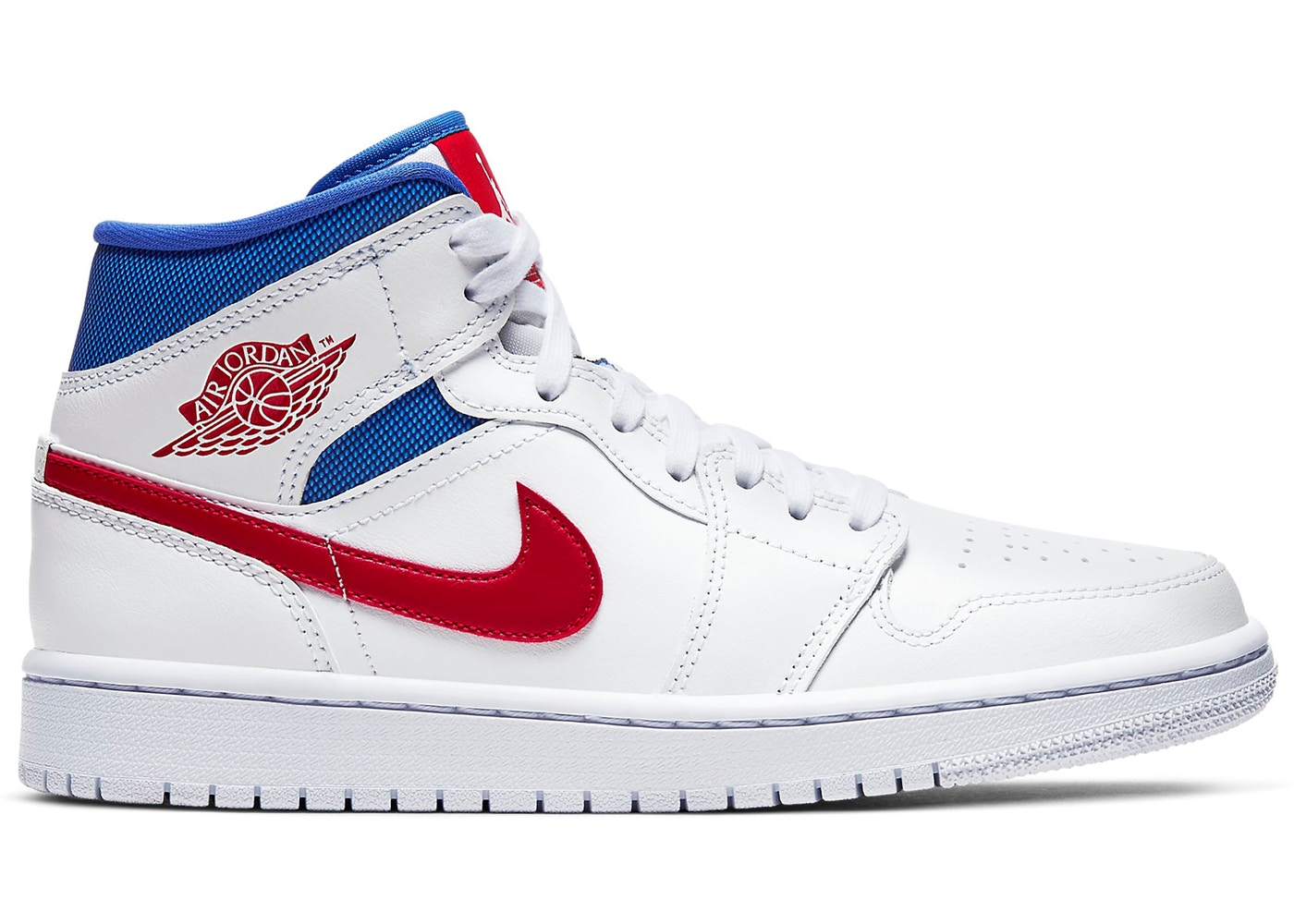Jordan 1 Mid White Red Royal (W)