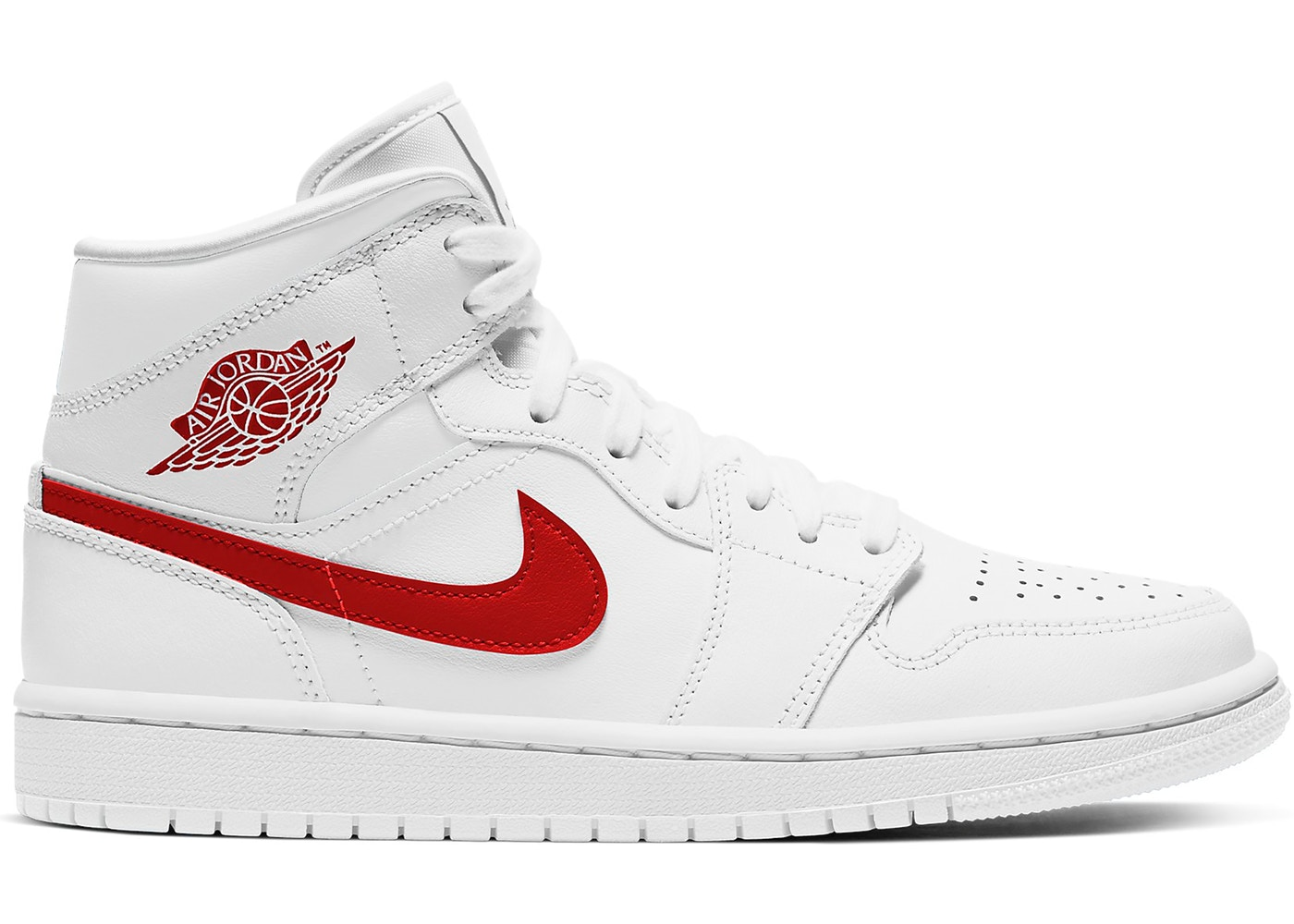 Jordan 1 Mid White University Red W Bq6472 106