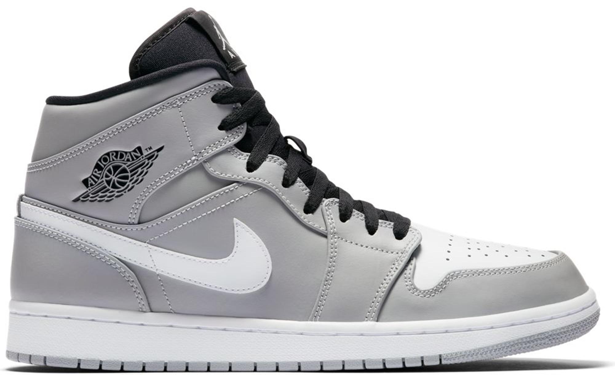 grey and white jordan 1