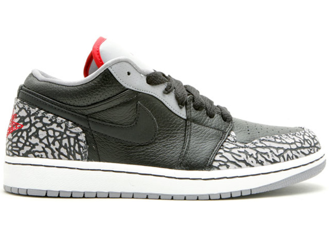 lowest price cb3b2 af099 Jordan 1 Phat Low Black Cement (2008)
