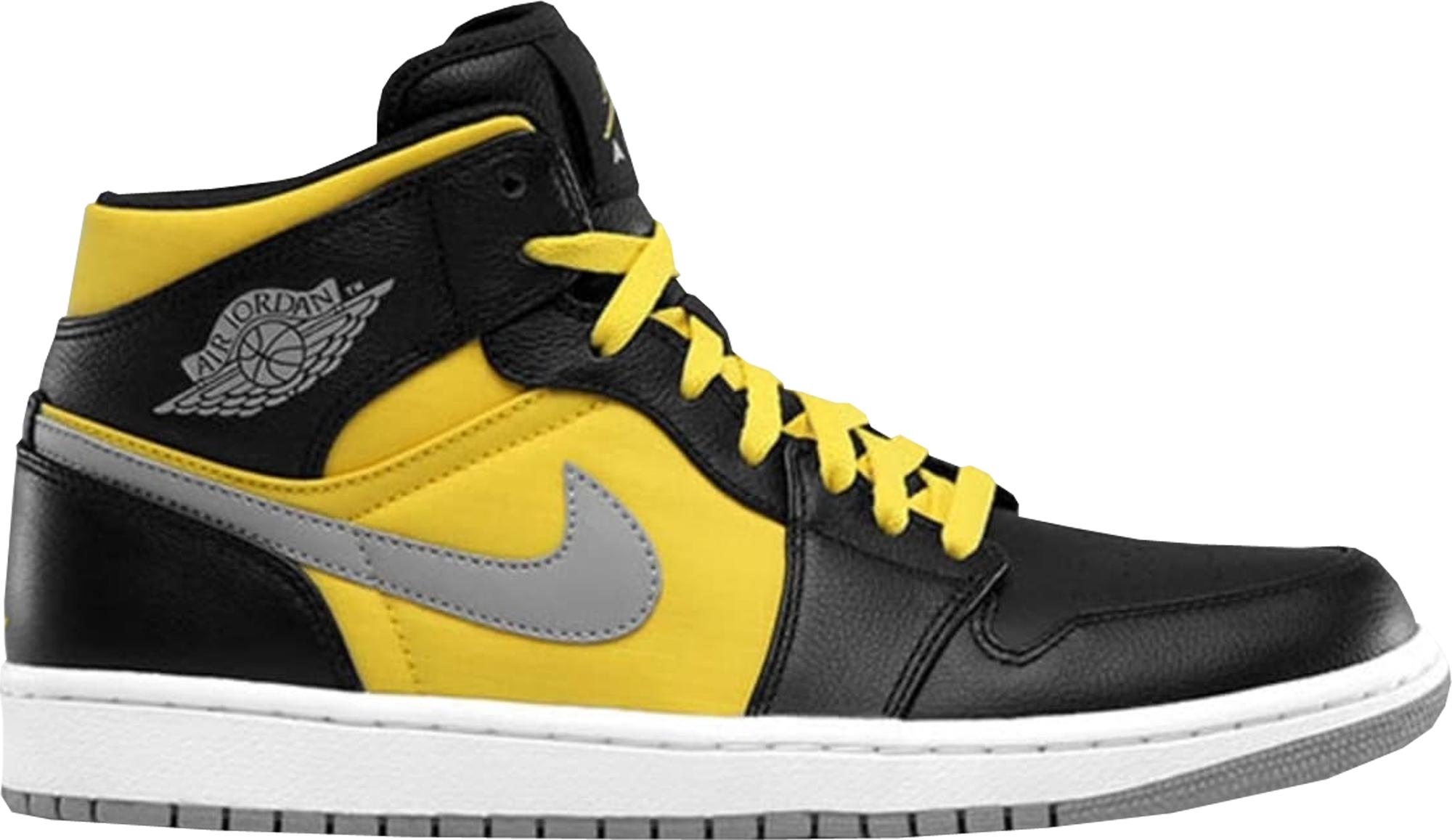 Jordan 1 Phat Mid Black Speed Yellow