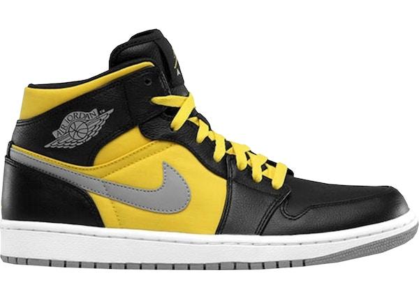 302510d9ded Jordan 1 Phat Mid Black Speed Yellow - 364770-050