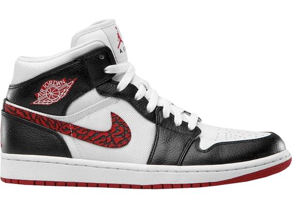 separation shoes a3dc7 7487d Jordan 1 Phat White Red Black (Elephant Print)