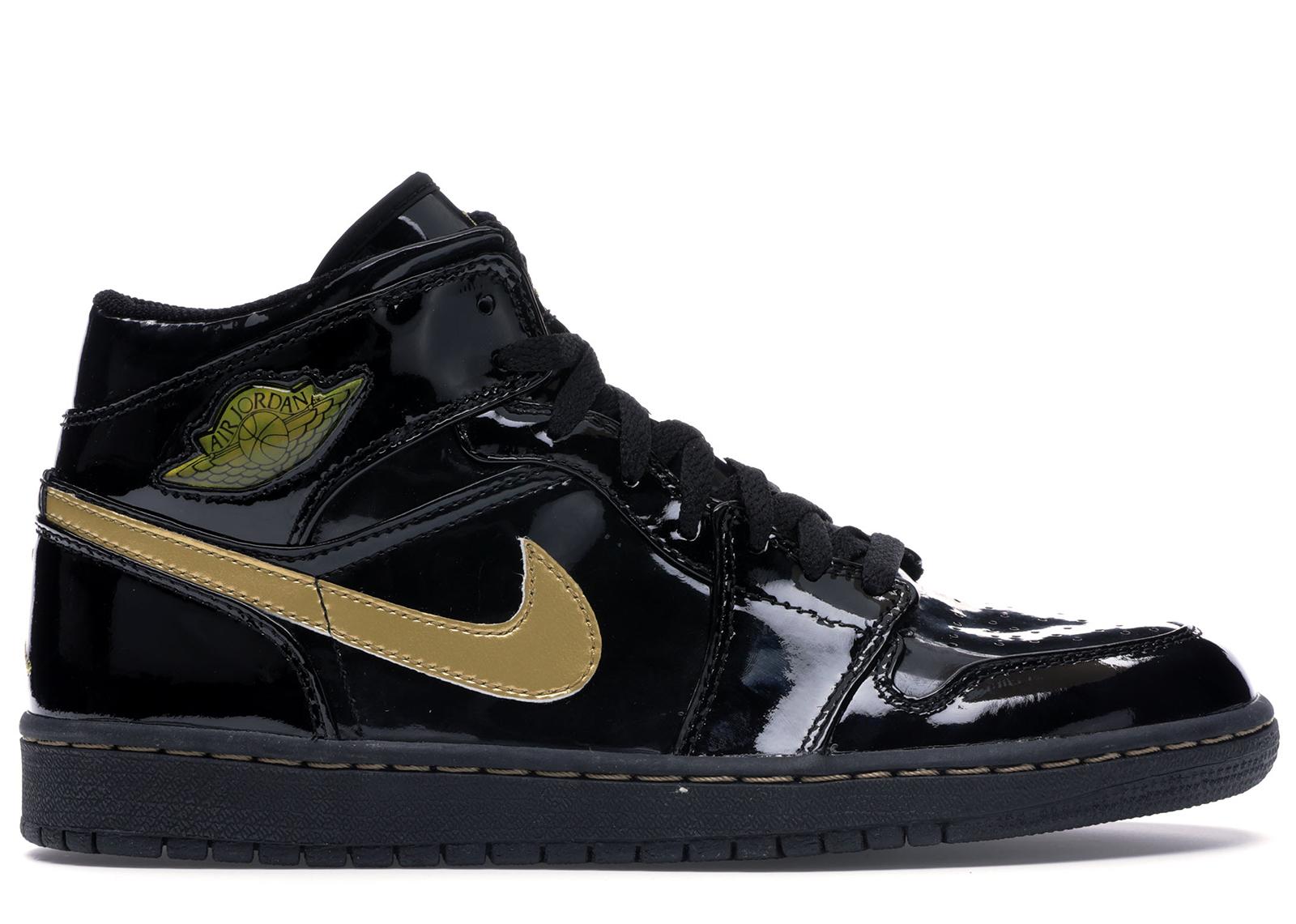 black and gold jordans