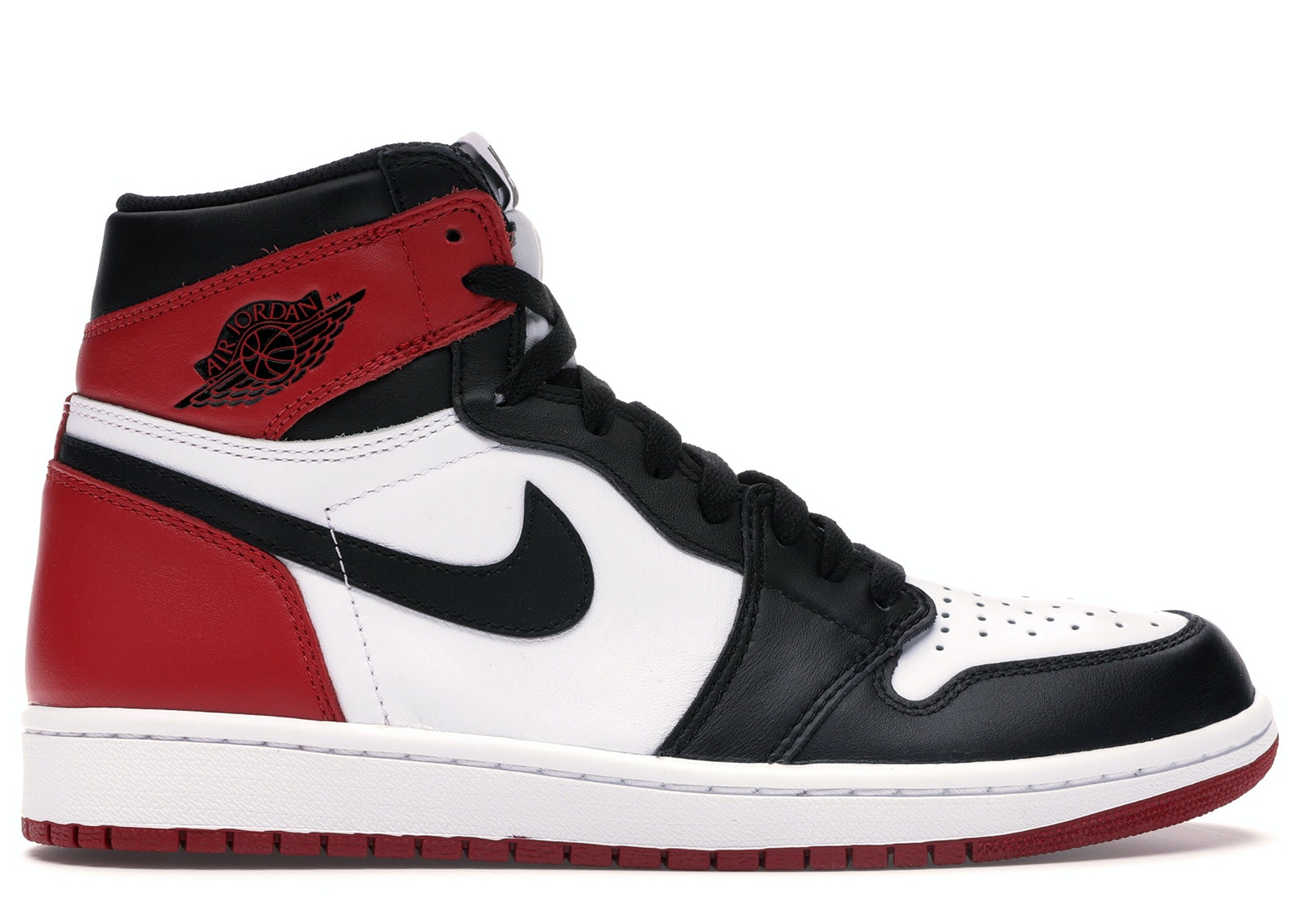 red and black jordan 1