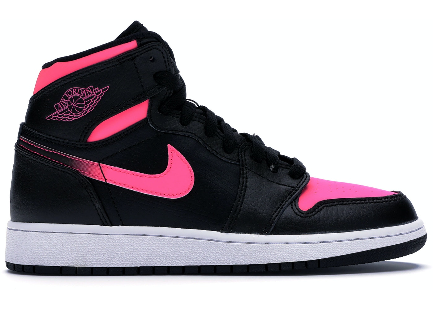the latest 5b148 af237 Jordan 1 Retro High Black Hyper Pink (GS) - 332148-019