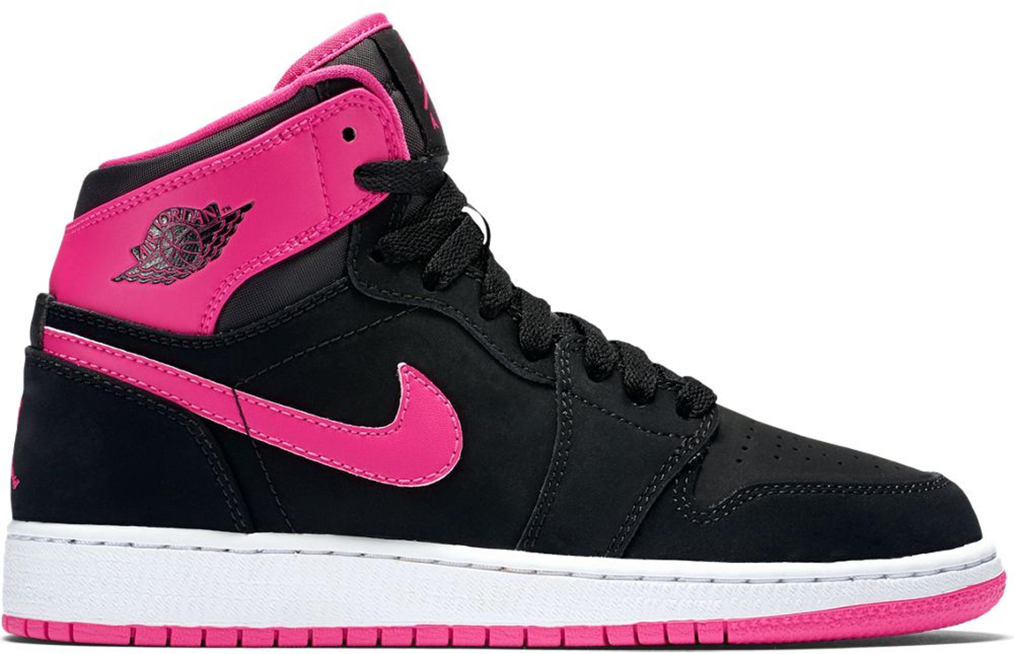 Jordan 1 Retro High Black Vivid Pink