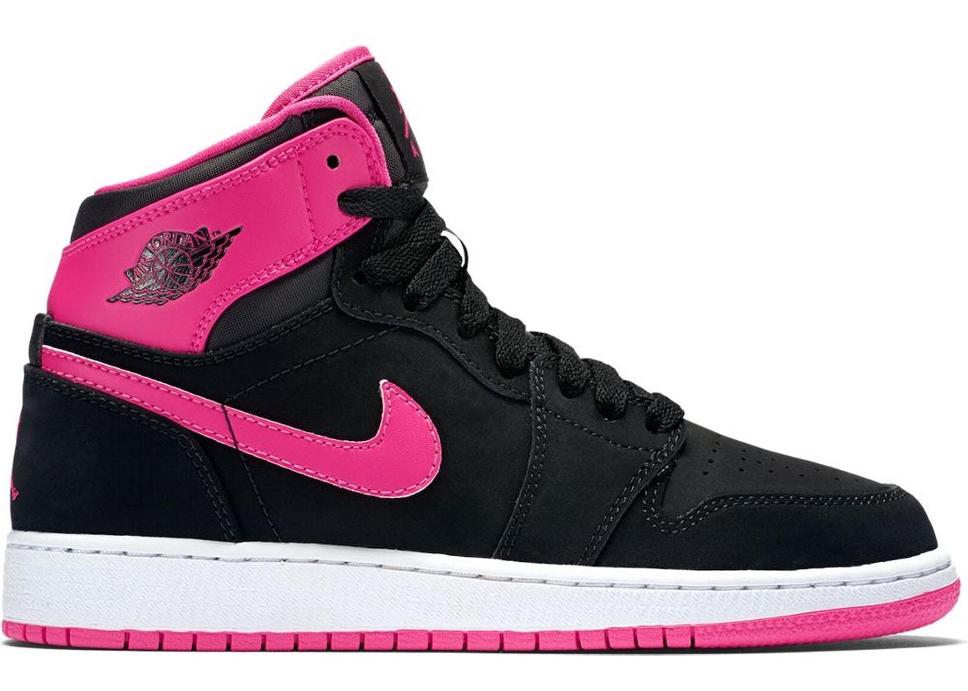 33e5c250bda3 Jordan 1 Retro High Black Vivid Pink (GS) - 332148-008