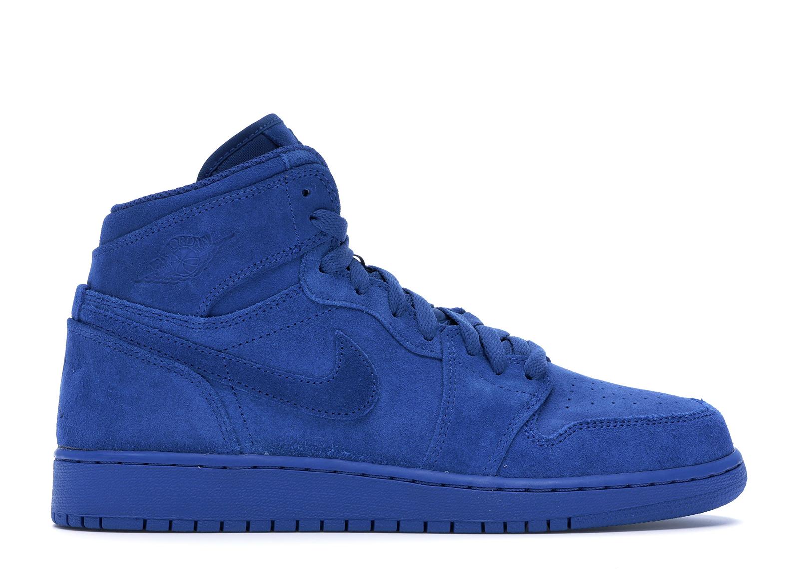 Jordan 1 Retro Blue Suede (GS) - 705300-404