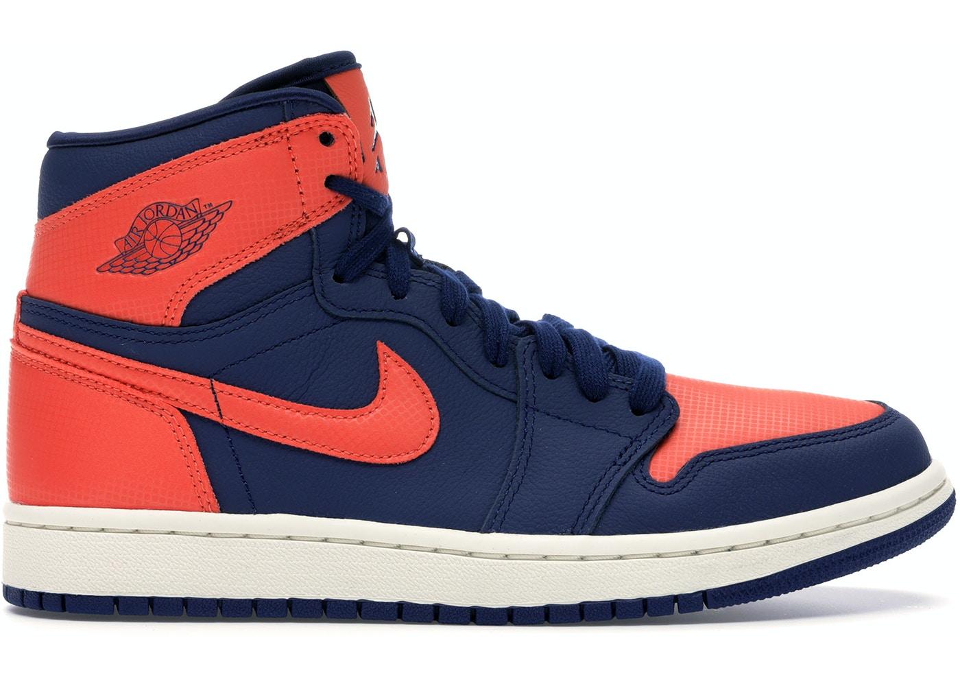 Jordan 1 Retro High Blue Void Turf Orange W Ah7389 408