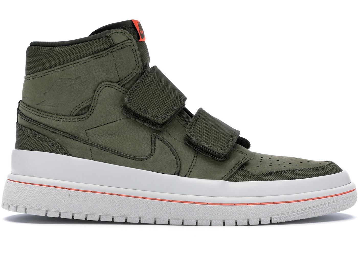 separation shoes 4a876 3709e Jordan 1 Retro High Double Strap Olive Canvas - AQ7924-305