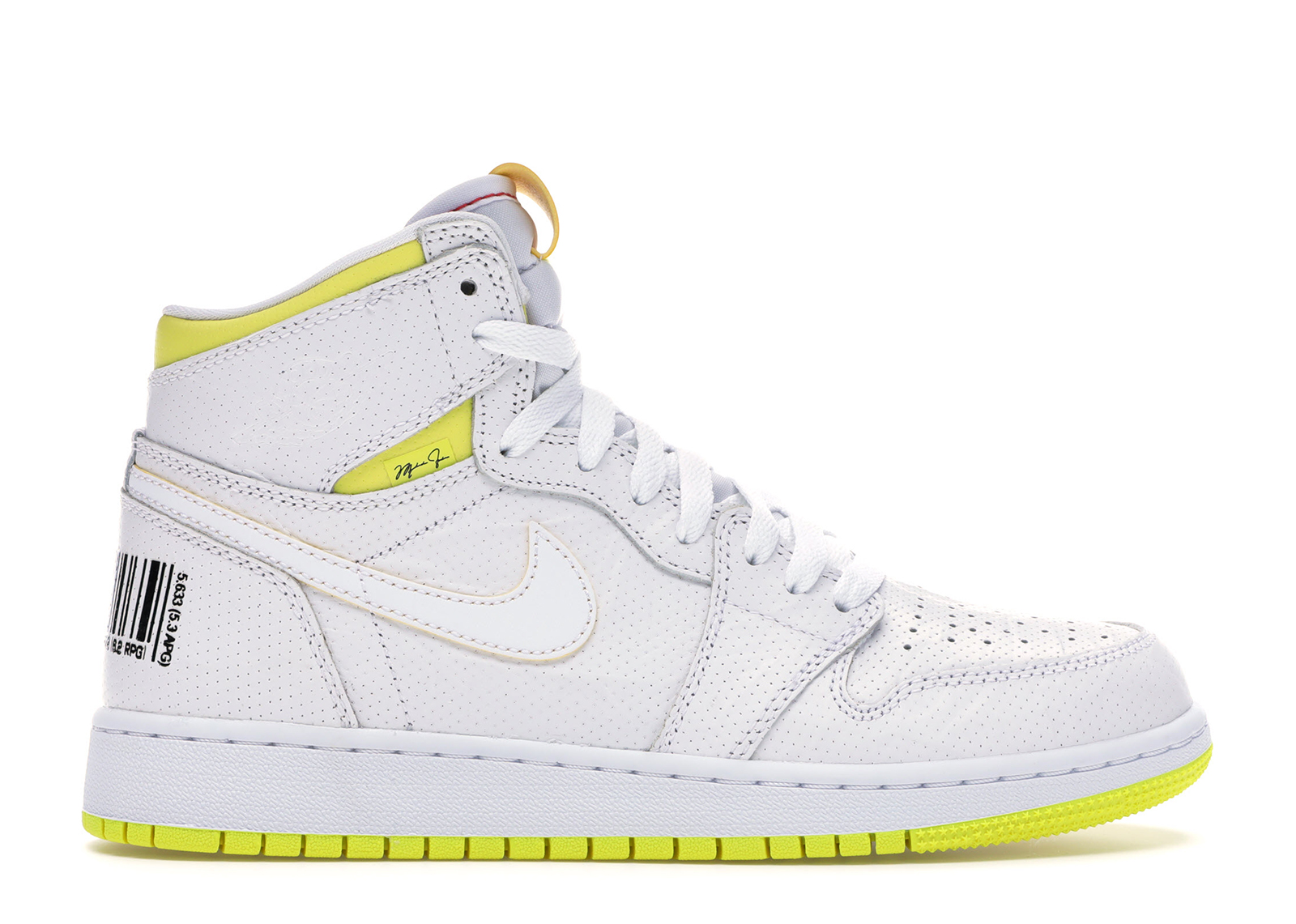 air jordan 1 retro high jaune