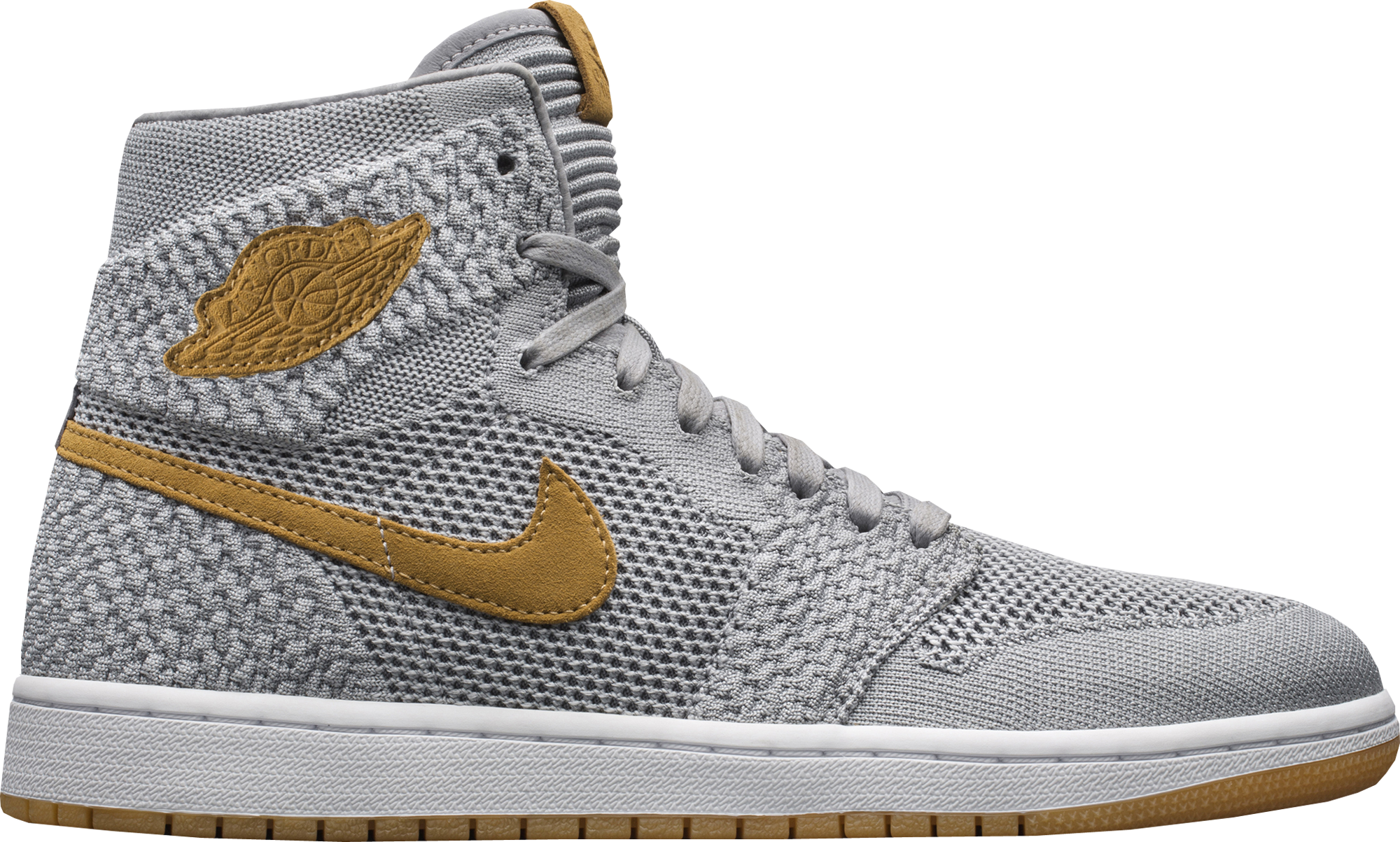 Jordan 1 Retro High Flyknit Wolf Grey