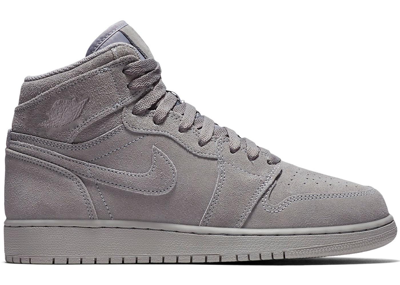 new products 9d02b 6634d Jordan 1 Retro High Grey Suede (GS)