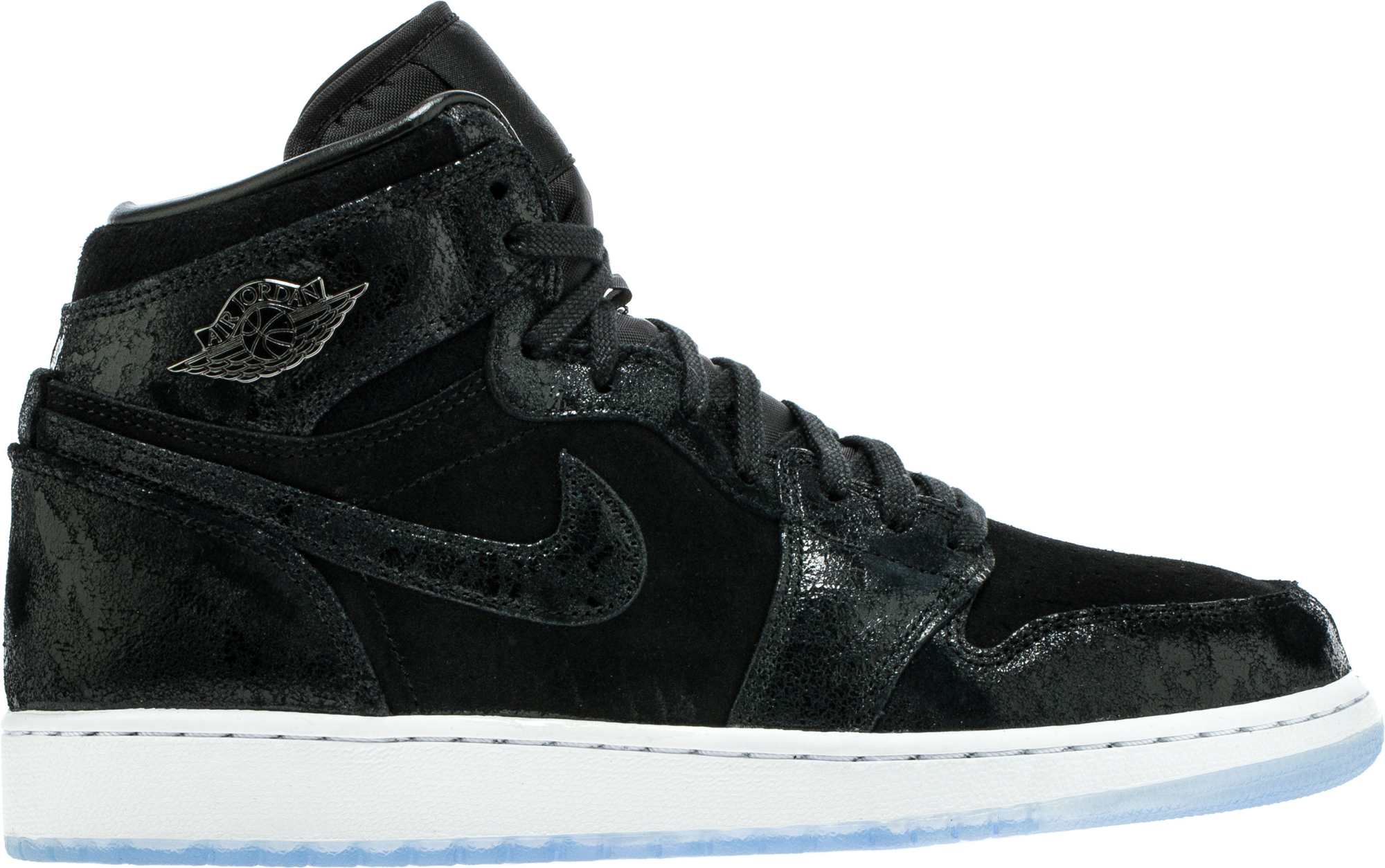 Jordan 1 Retro High Heiress Black Suede (GS)