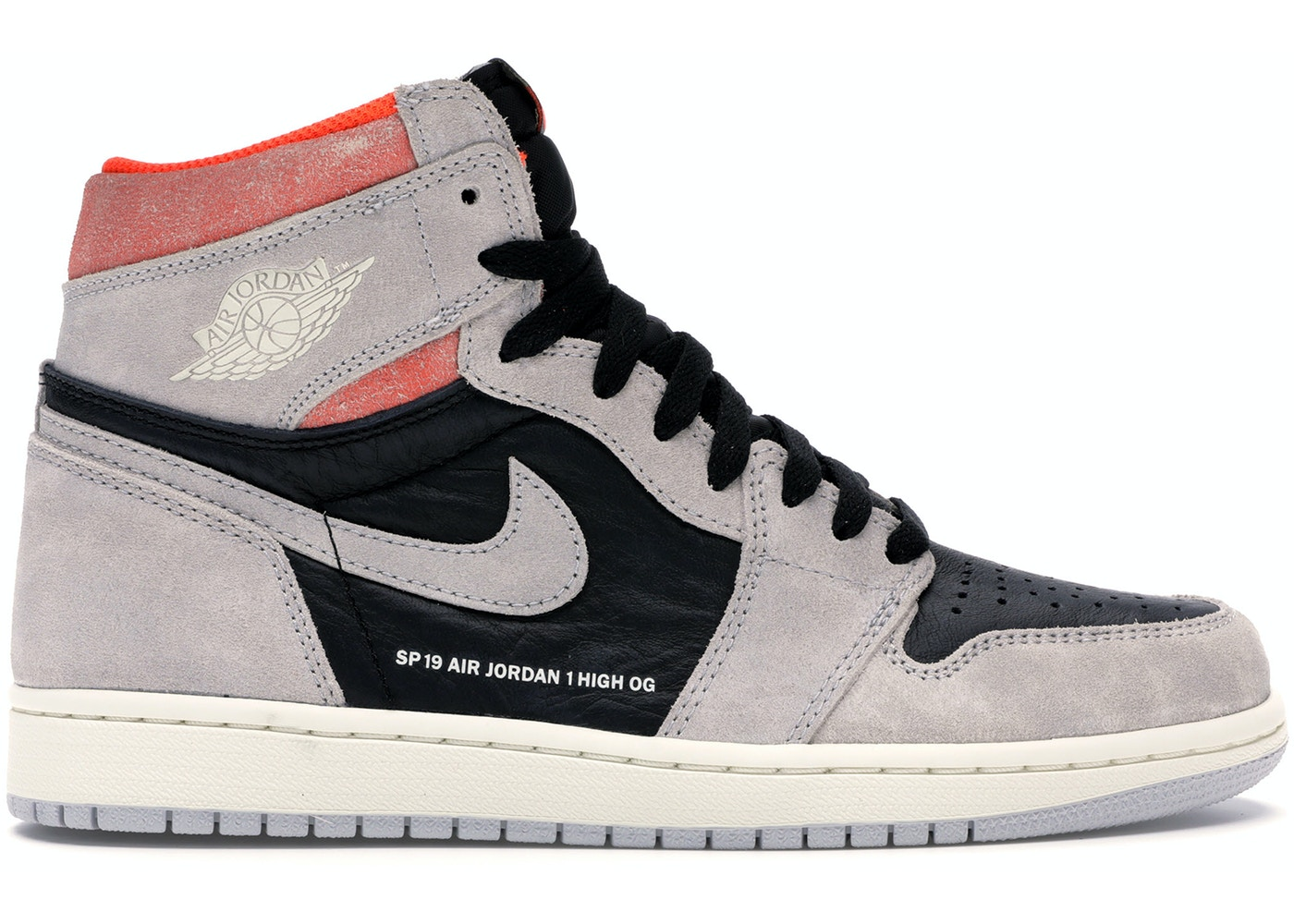 buy popular f47de 44ec8 Jordan 1 Retro High Neutral Grey Hyper Crimson - 555088-018