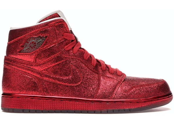 brand new 6c7a2 c09bb Jordan 1 Retro Legends of Summer Red Glitter