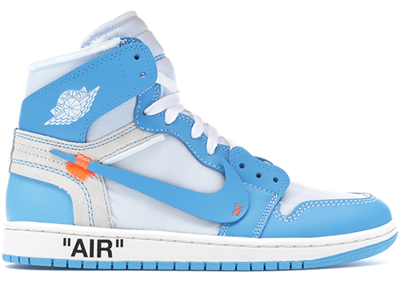 c37cf663a24f Jordan 1 Retro High Off-White University Blue - AQ0818-148
