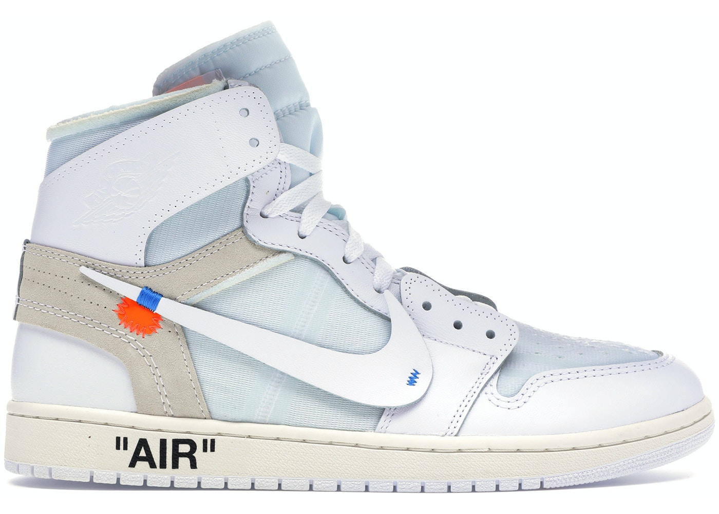 newest eeaab 32114 Jordan 1 Retro High Off-White White - AQ0818-100