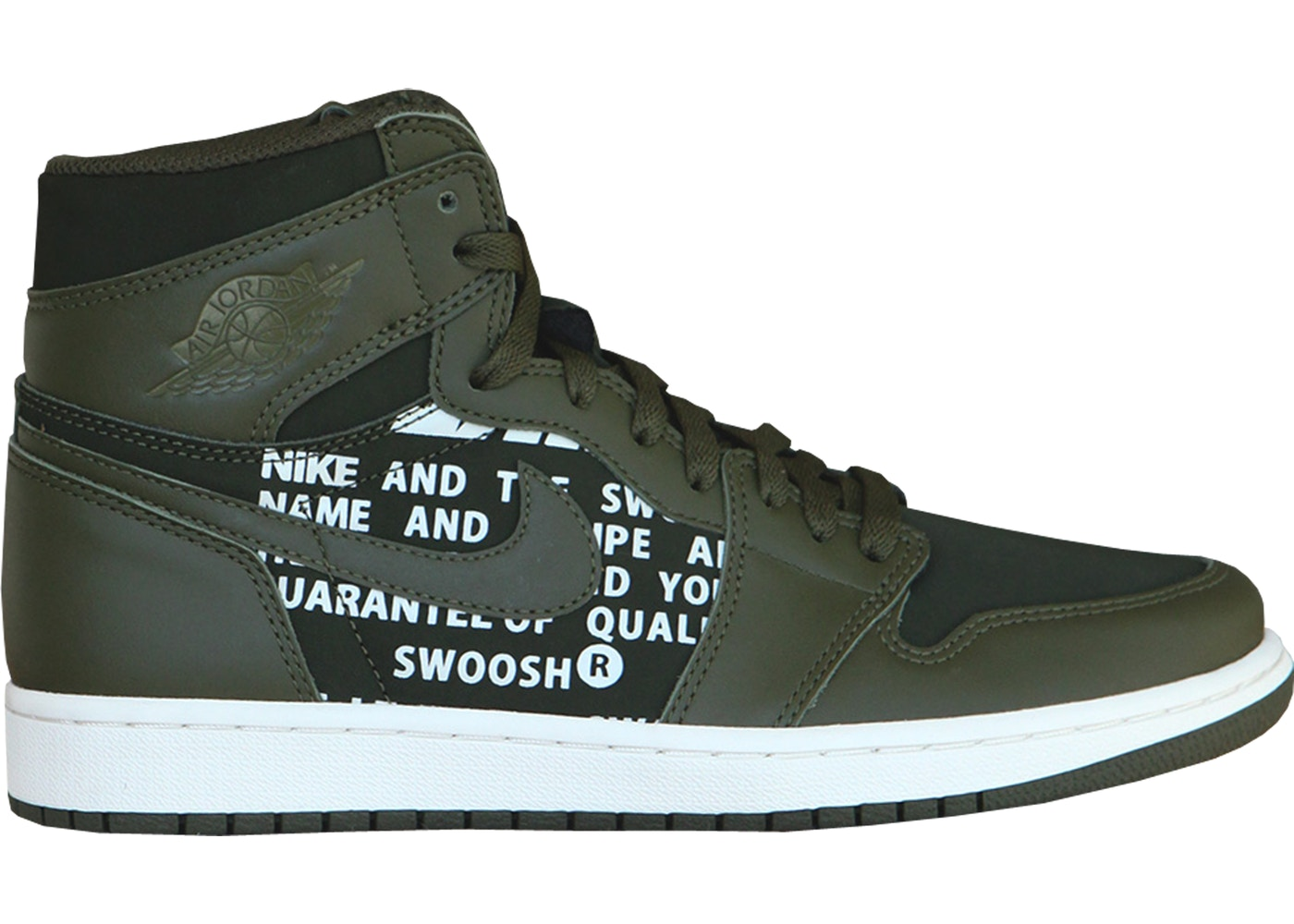 106ad6262cc4fe Jordan 1 Retro High Olive Canvas - 555088-300