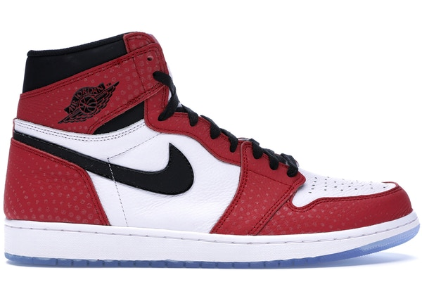 on sale 8cf90 252fd Jordan 1 Retro High Spider-Man Origin Story - 555088-602