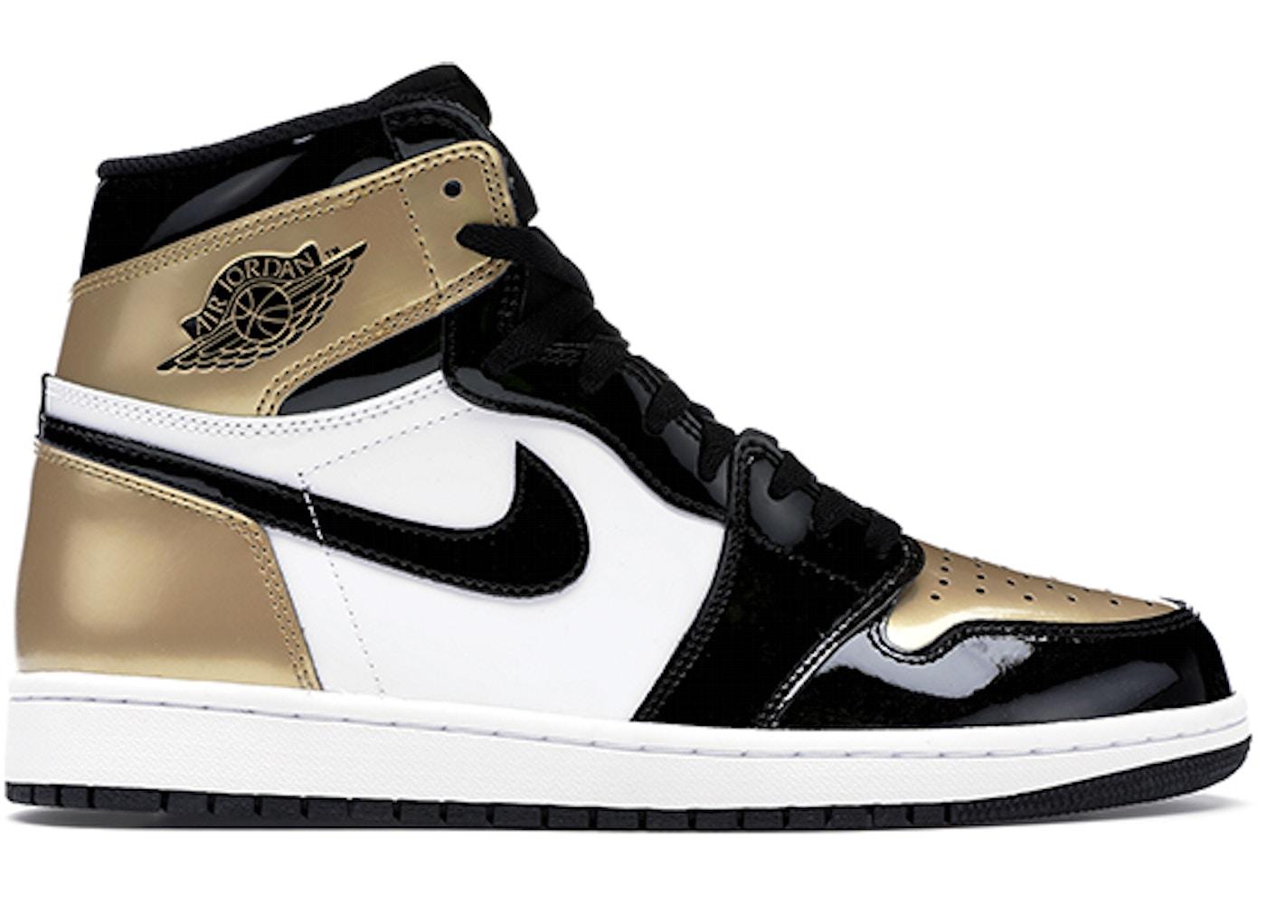 6e222fe0fb6 Jordan 1 Retro High NRG Patent Gold Toe - 861428-007