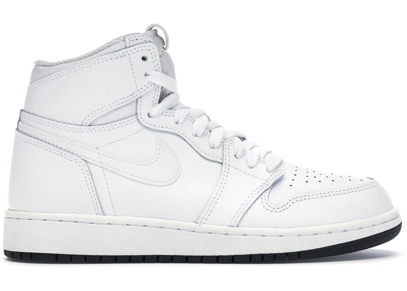 Jordan 1 Retro High Perforated White Gs 575441 100