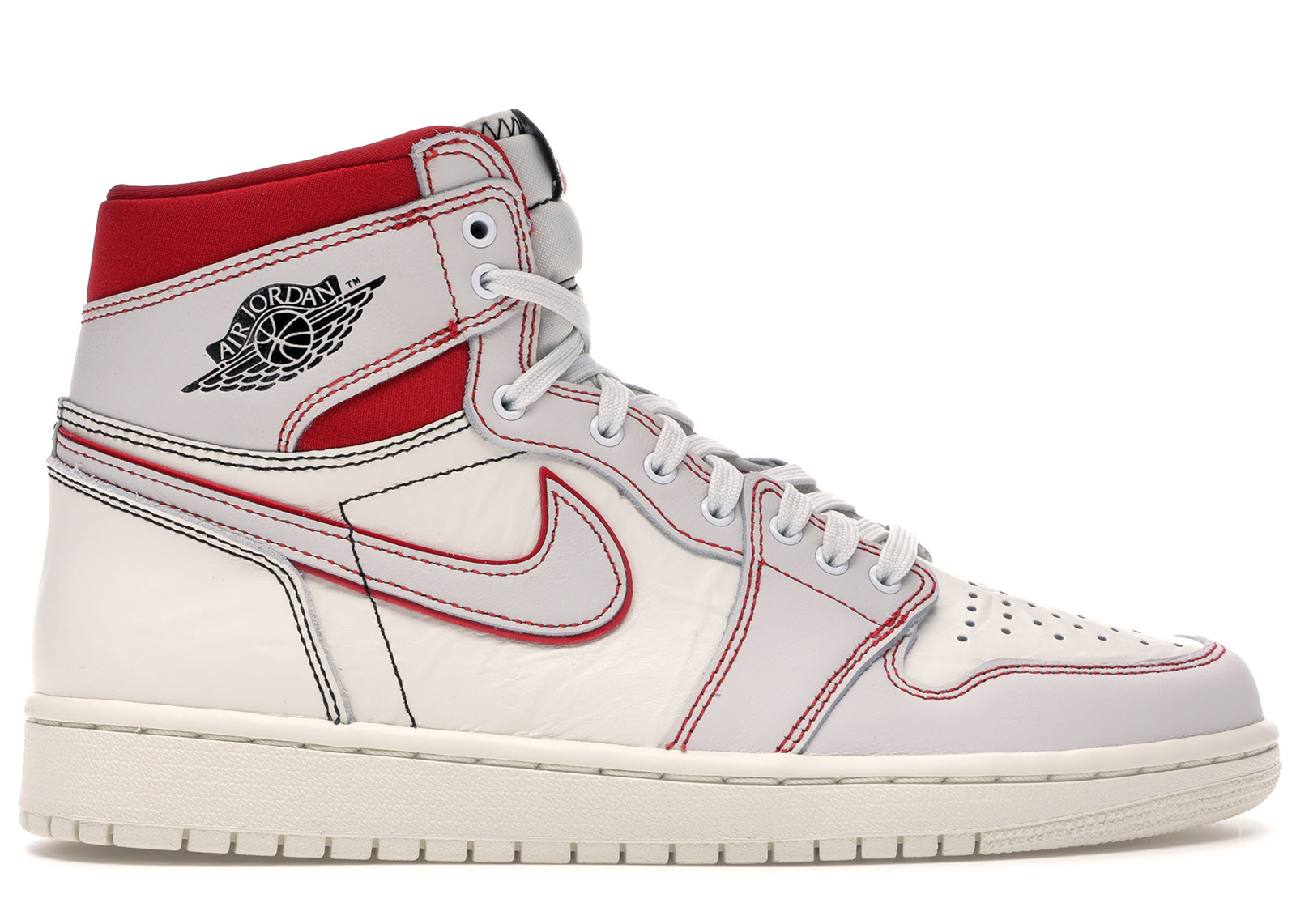 air jordan 1 high bianche e rosse