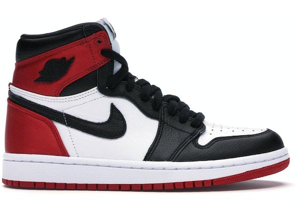 buy online 5b5cb 125e5 Jordan 1 Retro High Satin Black Toe (W)