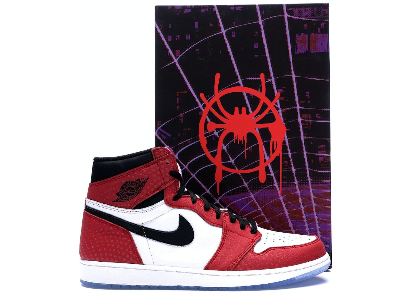 500cffd65471 HypeAnalyzer · Jordan 1 Retro High Spider Man Origin Story (Special Box)
