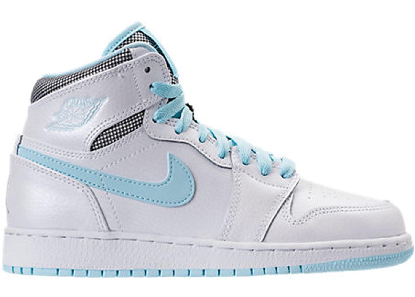 Jordan 1 Retro High White Still Blue Gs 332148 106
